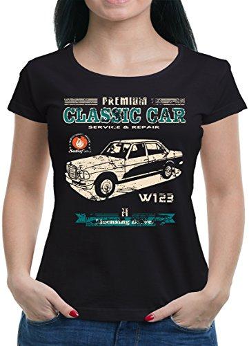 TLM Oldtimer Typ W123 Youngtimer Benz T-Shirt Damen S (Show Halloween Kostüme Tv Frauen)