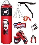 Saco de boxeo pesado MADX con relleno de 152,4 cm (incluye...