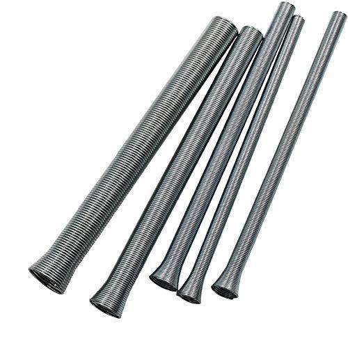 Dyda6 5 Stück rostbeständige Federstahlrohrbieger für 6 mm/8 mm/10 mm/12 mm/16 mm Durchmesser Rohr Kühlschrank Klimaanlage Kupfer Rohrverbinder Handwerkzeug, Silber, Free Size