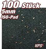 HPS 100 Stück 5mm - Gummipad 10x5cm, Terrassenpad, Gummigranulat, für den Terrassenbau. Hochwertige Gummimischung als Unterlage für Unterkonstruktionen