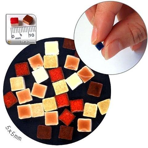 Mosaic-Minis (5x5x3mm), 250 pieces, mix orange, MXOR