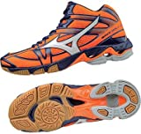 Mizuno Wave Bolt 6 Mid, Scarpe da Ginnastica Uomo, Arancione (Orange Clown Fish/White/Blue Depths), 48.5 EU