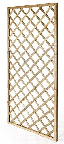 VERDELOOK Grigliato in Legno impregnato Rettangolare arredo Esterni, Misure 90x180 cm