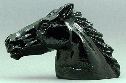 Testa di Cavallo in cristallo in vetro nero