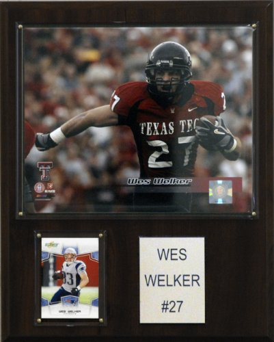 C & I Collectables NCAA Football Wes Welker Texas Tech Red Raiders Player Plakette