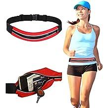 DMG Waterproof Running Belt Waist Pouch for Men + Women, Holds all iPhones/Smart Phones + Accessories, Completely Comfortable Running Belt for Travel, Hiking or Jogging