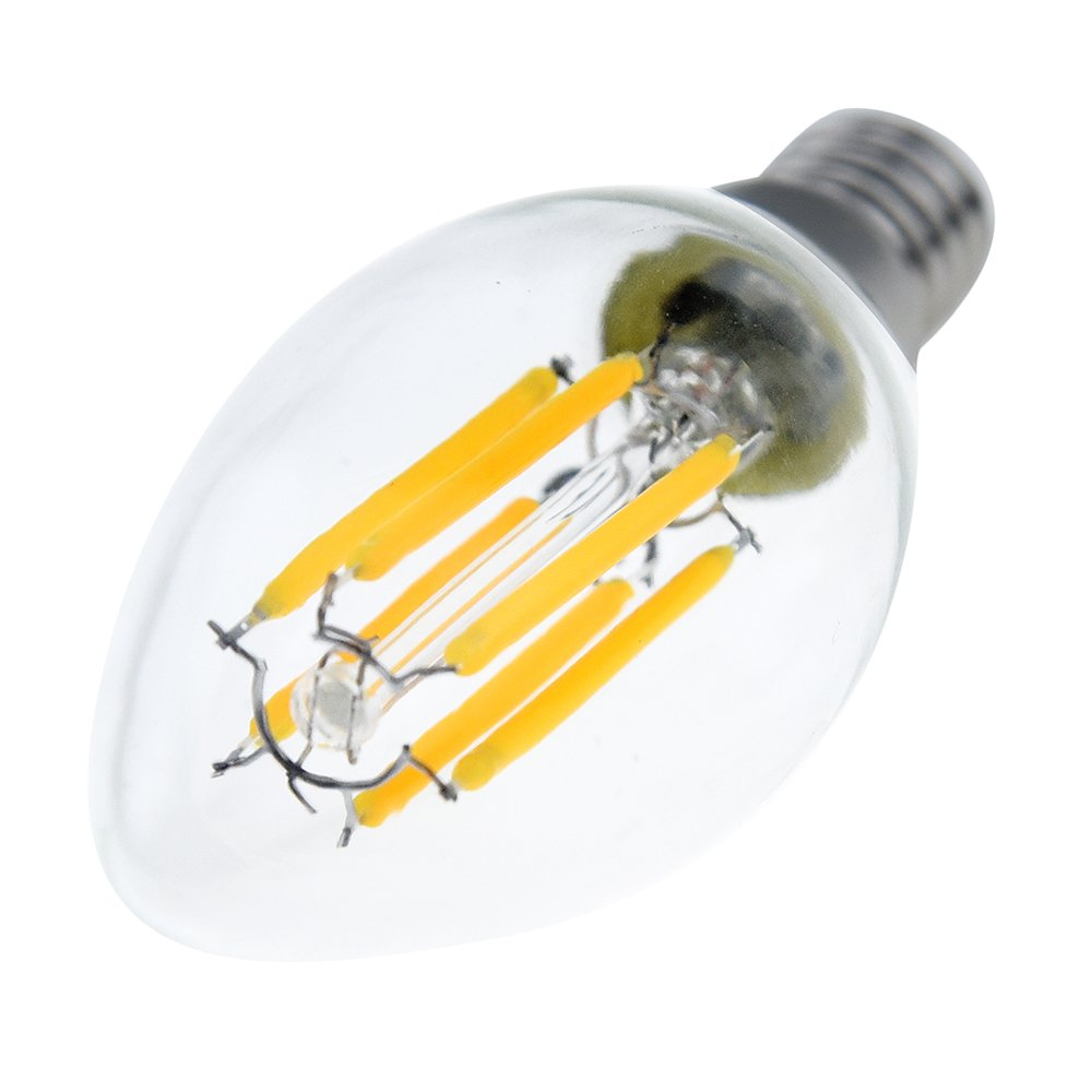 6w C35 Edison Base E14 Led Filament Bulbs Chandelie Led Bulb Bathroom Led Light Bulbs 60w