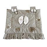Euronovità EN-05246 Copriforno copri forno 47x40 cm fantasia shabby cuore grigio pois bianco