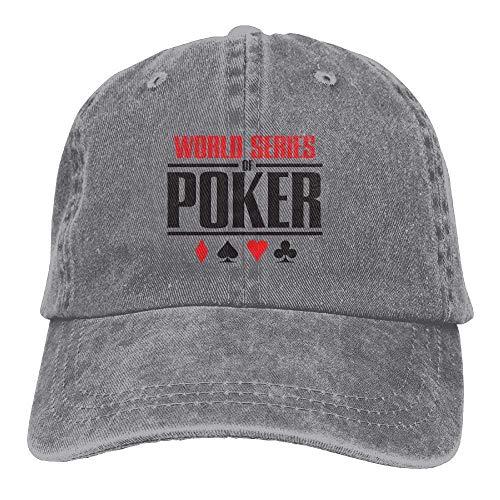 Aeykis Men & Women Vintage Adjustable Jeans Caps Trucker Cap - World Series of Poker 2017 -
