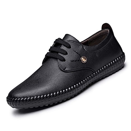 Herrenschuhe Männer Loafers & Slip-Ons Komfort Leder Frühling Sommer Herbst Casual Büro & Karriere Party & Abend Walking Split Joint Flache Ferse (Color : D, Size : 43) (Komfort Loafer Leder)
