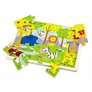 New Classic Toys - 0536 - Puzzle En Bois - Jungle
