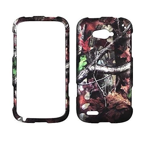 2D Camouflage de v ZTE Reef N810Virgin Mobile Housse étui coque housse coque rigide à clipser en caoutchouc givré mat Surface rigide