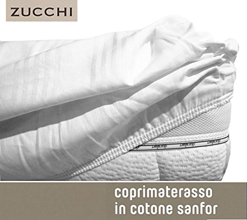 Zucchi coprimaterasso matrimoniale con angoli in cotone sanfor basic