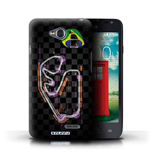 Kobalt® Imprimé Etui / Coque pour LG L65/D280 / USA/Austin conception / Série 2014 F1 Piste Brésil/São Paulo