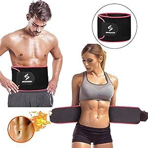 Scrood Taillentrimmer, Sweet Sweat Taillentrimmer Gewichtsverlust Gürtel für Männer und Frauen