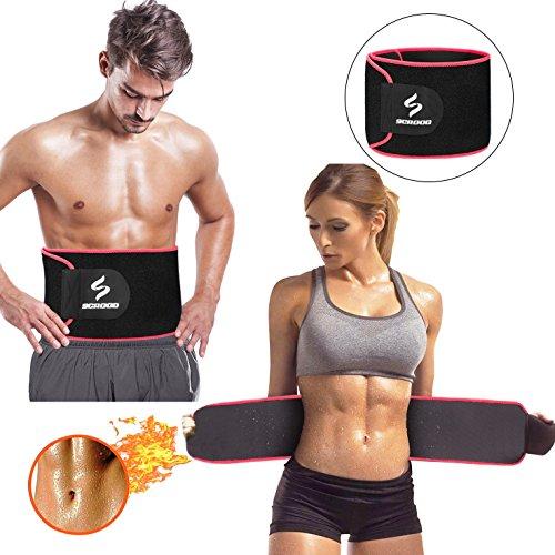 Cintura Trainer Sweet Sweat Cintura Correa de pérdida de peso Gran ejercicio Cinturón Cinturón ajustable para hombres y mujeres (rojo)