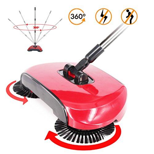 Balayeuse nettoyage ménager| Lazy automatic Hand Push sweeper| Balai Aspirateur multi-fonctions sans électricité | Balai mécanique 114x35cm