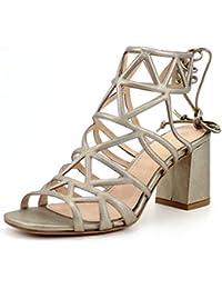 Giorgio Rea sandalias para mujer elegante metálico de oro hechos a mano en Italia genuinos de alta calidad zapatos de cuero de alta moda de ceremonia de la línea