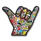 2x Shaka Surfer Hand Vinyl Aufkleber Aufkleber Laptop Reise Gepäck Auto Ipad Schild Fun # 6360 - 10cm/100mm Wide
