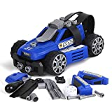 BeebeeRun Montage Spielzeug Auto,Spielzeug für Jungen 3 4 5 Jahre,Polizeiauto Fahrzeuge Spielzeug 5-IN-1 Gebäude Spielzeug Kinder Geschenk