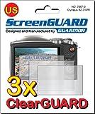 Guarmor Displayschutzfolien (für Olympus SZ-31 MR HIS Kameras, passgenau) transparent, 3 Stück