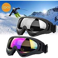JTENG Skibrille Schutzbrille Motocross Goggle Sportbrille Schneebrille Wintersport Brille Winddicht Staubschutz Fliegerbrille Snowboardbrille Schneebrille Skibrille