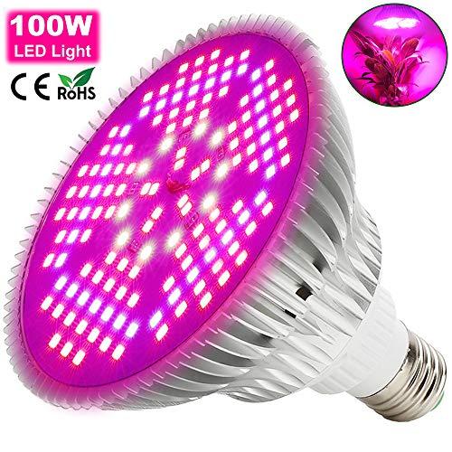 LED Lampade per Piante Spettro Completo E27/E26 Illuminazione Luce LED Piante MILYN 150 Leds Grow Light per Fioritura Crescita in Serra Grow Box,Serra Idroponica