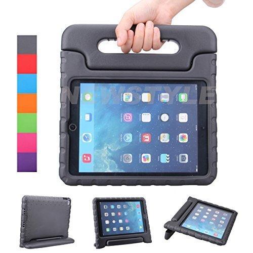 iPad Air 2 Hülle, iPad 6 Hülle, NEWSTYLE Superleicht EVA Stoßfest Kinder Ständer Schutzhülle umwandelbarer Handgriff kinderfreundlich Handle Tasche Kickstand Case Etui für Apple iPad Air 2/iPad 6,Schwarz