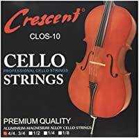TOOGOO(R) Niquel Plateado Cuerdas para Cello Violoncelo 4/4 Set