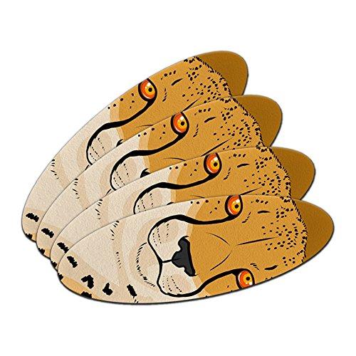 CHEETAH–Safari Big Cat doppelseitig oval Nagelfeile Emery Board Set 4Stück (Nagelfeile Safari)