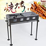 TTXIA@@ Die Holzkohle Grill Backofen 4-5 Person Outdoor Grill Edelstahl Holzkohle Grill BBQ Holzkohle Picknick (L*W* High) 65 * 62 * 30 cm.