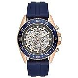 Michael Kors Herren-Armbanduhr Analog Automatik One Size, blau, blau