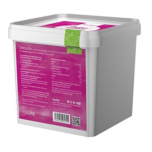 Xucker Puderxucker natürliche -Alternative aus Erythrit, kalorienfrei, 1er Pack (1 x 1 kg)