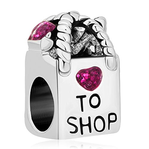 Pugster Pink Crystal Love To Shopping Bag Heart Bead Charm Sale Fits Pandora Charms Bracelet Buy Online In Antigua And Barbuda At Antigua Desertcart Com Productid 52584745