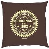 Original seit 1962 ...Cooler Geschenktip!!! Deko-/Sofakissen! 40 x 40 cm Farbe: schoco-braun