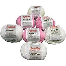 Katia Austral–varios colores–Pack de 7bolas de 50G