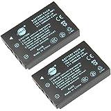 DSTE 2-Pack Rechange Batterie pour KODAK KLIC-5001 EasyShare P880 Z730 Z7590 Z760 DX6490 Z760 DX7440 DX7590 DX7630 Z7590 P850 DX7440 Z730 Z730 P712 SANYO Xacti DMX-WH1 VPC-HD2000 DMX-HD1010 DMX-FH11 VPC-WH1 DMX-HD2000 VPC-HD1010 VPC-HD1000 VPC-TH1
