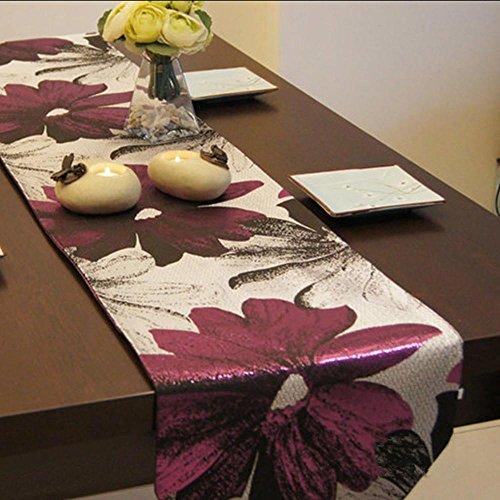 TINE HOME CURTAINS Tisch Linens Tischdecken Tisch runnersm Tisch Flagge Fashion Creative Tischdecke (32* 200cm), 2, 32 * 200cm