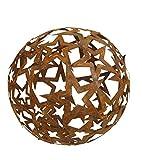 Vosteen Sternen-Kugel Metal Rost Gartendeko Edelrost 40 cm