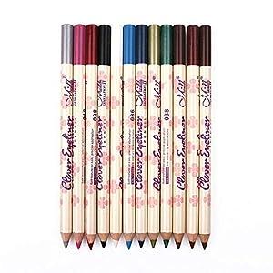 1 Mate Set Delineador de ojos lápiz natural larga duración maquillaje hipoalergénico Bajo delineadores de ojos Lápices Crayon suave