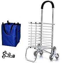 Carro de compras Carrito Carrito de la compra de aluminio Escaleras de montañismo Carrito de la