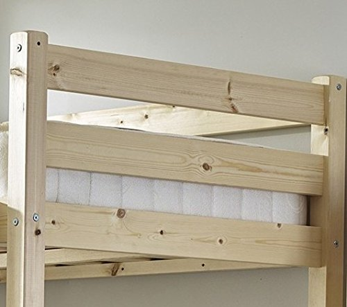 Short Loft Bunk Bed with memory foam mattress- Heavy Duty 2ft 6 Small single wooden high sleeper bunkbed - CAN BE USED BY ADULTS
