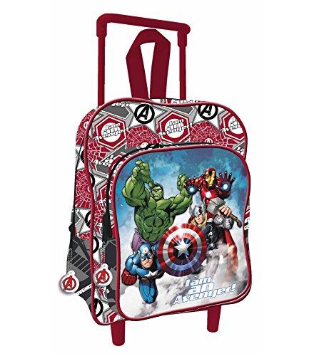 Mini zainetto trolley bambino - scuola elementare asilo - marvel avengers