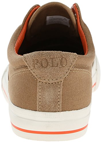 Polo Ralph Lauren Vito Canvas Fashion Sneaker Laceless Conception Adirondack Khaki