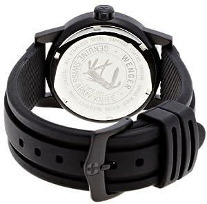 Wenger 70175 - Reloj de caballero de cuarzo, correa de goma color negro de Wenger