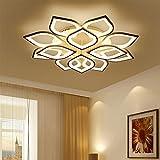 QLIGHA Plafoniere Moderno LED Lampada da Soffitto dimmerabile con Telecomando Acrilico Cucina Camera da Letto Illuminazioni lampadario,12(8+4)_Heads
