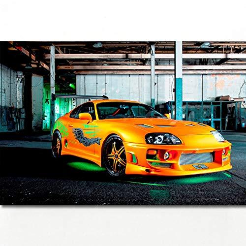 Fast & Furious Super Auto Toyotas Supra Tuning Hot Rod Fahrzeuge Poster Leinwand Kunstdrucke Wandmalereien für Wohnzimmer Decor 40 * 60 cm Ohne Rahmen
