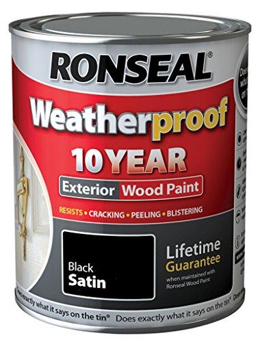 Ronseal Wetter 10 Jahre Holzfassadenfarbe Satin 750ml Schwarz