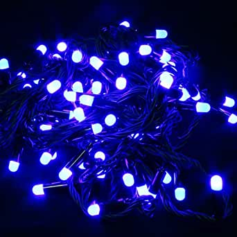 KooPower 10M indoor LED fairy lights Blue FOR CHRISTMAS TREE FESTIVE BIRTHDAY PARTY WEDDING GARDEN AND MORE with 8 models