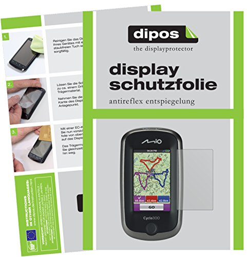 dipos I 3X Schutzfolie matt passend für Mitac Mio Cyclo 300 Folie Bildschirmschutzfolie